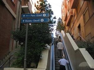 escada rolante barcelona