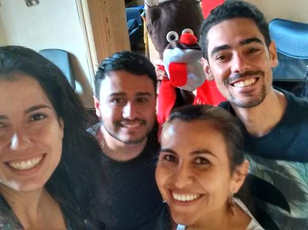 Luma Pinto, Dani Vasco, Esleidy Ramírez e Eduardo Melo
