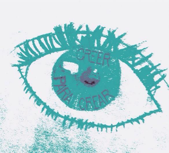 """Slogan do CREA, é a frase """"Crer para criar""""."""